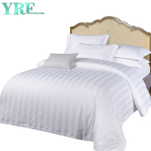 White Hotel Bedding 400 Thread Count Striped Cal King