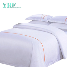 Discount Cheap White 4PCS Cotton Satin Hotel Bedding Set College Dorm