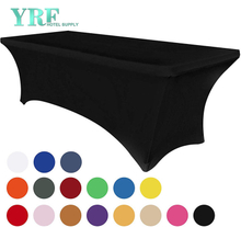 "Oblong Stretch Spandex Table Covers Black 6ft/72""L x 30""W x 30""H Polyester For Folding Tables"