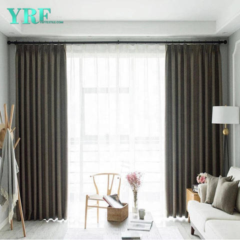 Hotel Solid Color Blackout Flame Retardant Bedroom Curtains