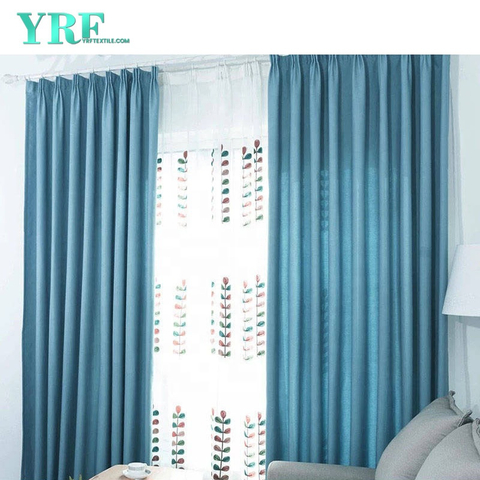 Inn Plain Color Blackout Flame Retardant Rooms Drapes