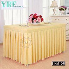 YRF Wholesale Popular Banquet Wedding Ruffled Table Skirts
