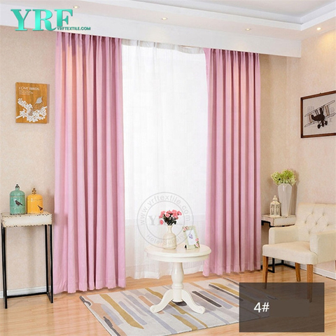 Customized Chinese Inn Blackout Window Treatments Pink Used In Rooms