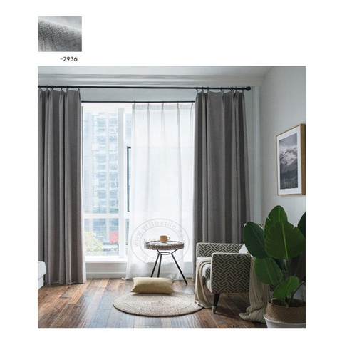 Discount Blackout Rooms Plain Color Hotel Apartment Window Treatments