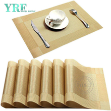 Modern Rectangular Woven Washable Non-fading Gold Placemats