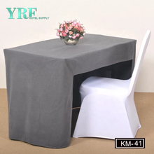 YRF Customized Decorative Design 100% Polyester Table Skirt
