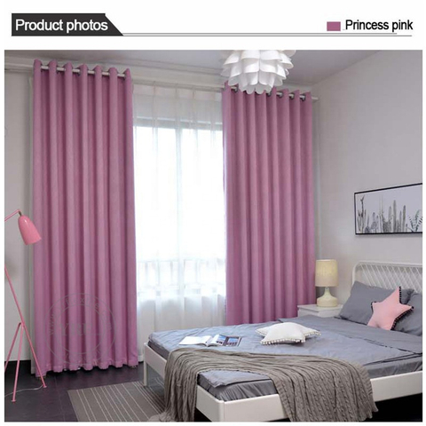 Condo Solid Color Blackout Fire Retardant Bedroom Window Curtains