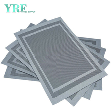 Square Wedding Hardboard Non-stain Heat-Resistant Silver Gray Placemats