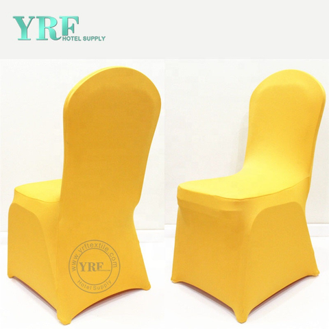 YRF Factory Banquet Supplies Cheap Spandex Yellow Chair Covers