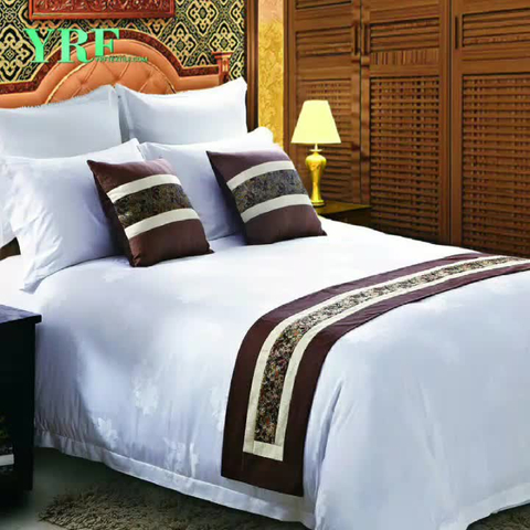 Luxury Merritt Hotels Linen Bedding Sets Cotton White King Size Striped