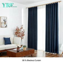 University Solid Color Black Out Flame Retardant Bedroom Curtains