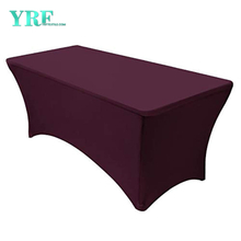 Rectangular Fitted Spandex Tablecloths Wine red 8ft Pure Polyester Wrinkle Free for Folding Tables