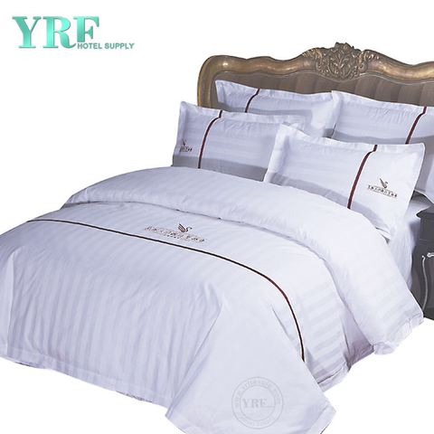 Good Quality Professional Soft White Polycotton Hotel California King Bedding