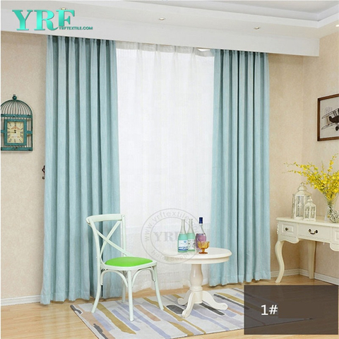 Dorm Room Plain Color Blackout Flame Retardant Living Room Drapes