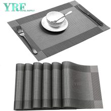Dining Rectangular Woven Washable dries very quickly Gray Placemats