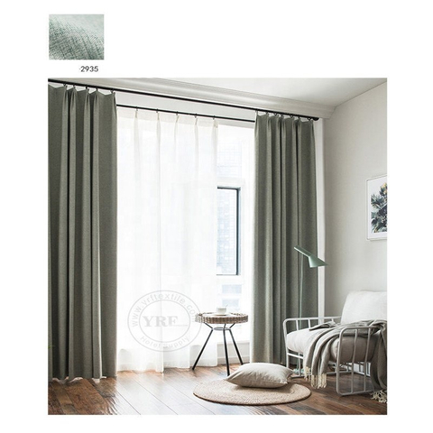 Motel Best Quality Breathable Grey Black Out Curtains