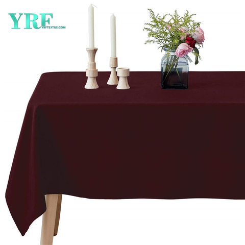 Rectangle Table Cloths Wine red 90x156 inch Pure 100% Polyester Wrinkle Free for Weddings