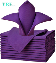 "Dinner Napkin Pure Purple 17x17"" Inch Pure 100% Polyester Washable and Reusable For Hotel"