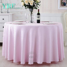 "YRF Cheap 5 Star Hotel jacquard 90"" Rounde Wedding Table Cloth"