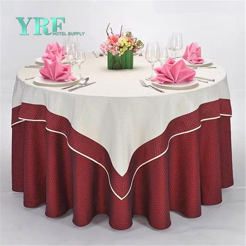 YRF Customized Birthday Square Table Cloth Wine red Plain Dyed
