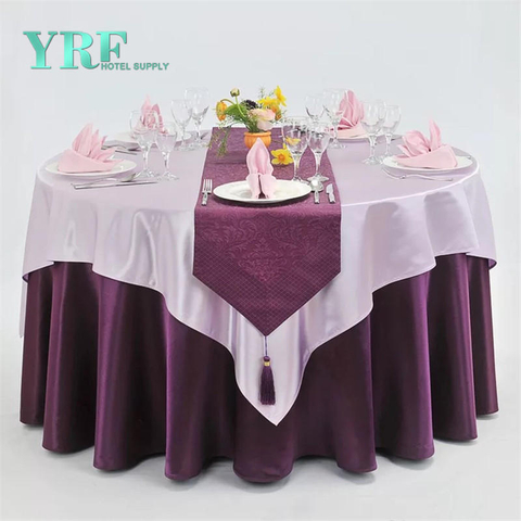 YRF China Wholesale Hotel Apartment Round Table Cloth Violet plain