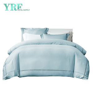 China Wholesale Queen Size Embroider 600t Blue Hotel Bedding