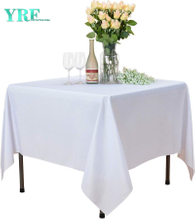 Square Tablecloth White 54x54 inch Solid 100% Polyester Wrinkle Free For Hotel