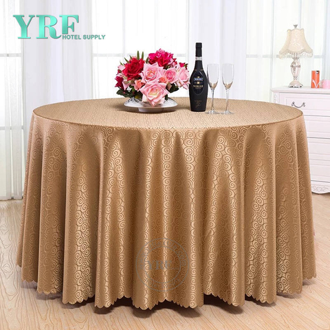 YRF Factory Sale Table Cloth Square Luxury Polyester Hotel