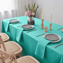 "Cotton Napkins Cloth Pure Turquoise 20x20"" Inch Pure Washable and Reusable For Weddings"