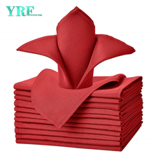 "Cloth Napkins Pure Red 17x17"" Inch 100% Polyester Washable and Reusable for Restaurant"