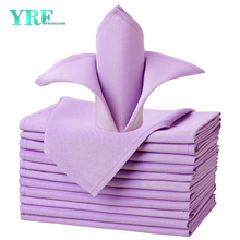 "Napkins Cloth Pure Lavender 17x17"" Inch Pure 100% Polyester Washable and Reusable For Parties"