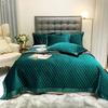 Home Textile Bedspread Cover Washed Cal King Quilt Bedding Set Green for All Season