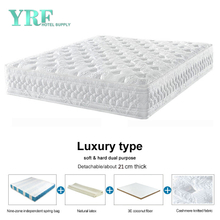 Customized Chinese Luxurious Living Room Mattress 11 Inch Natural Latex Premium Steel Coils Soft And Hard