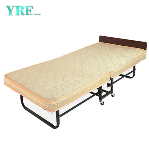 Homestay Folding Bed Extra Rollaway Memory Foam Topper on Wheels Single Size