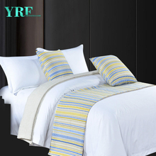 Hotel Double Room Simple High Precision Stripe Green Decoration Bed Flags