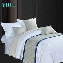 Five-Star Hotel Modern Simple Blue stripe Twin Size Decorate Bed Flags