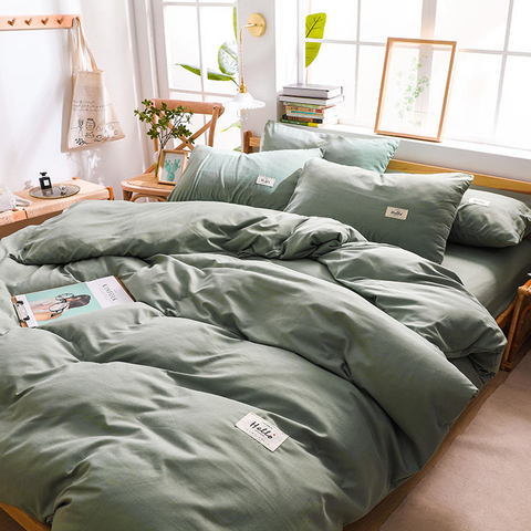 Troops Dorm Green 3 PCS Single Bed Cotton Bed Sheet