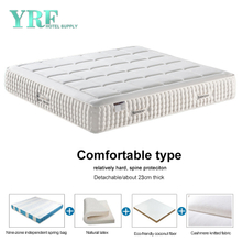 Luxurious Five-Star Hotel 11 Inch Mattress Latex 1.5*2.0m 3E Coconut Fiber Soft And Hard