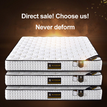 Hotel Bedroom Mattress Single 12 Inch Coconut Fiber Hybrid Innerspring Relatively Hard