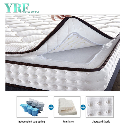 Luxurious Five-Star Hotel 12 Inch Mattress Natural Latex Detachable Washable Plush