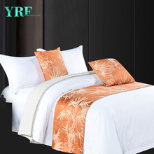 Hotel Double Room New Style Yarn-Dyed Dark Orange Jacquard Decoration Bed Flags