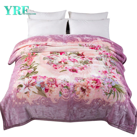 Super Soft Fleece Pink Thick Printing Pattern Raschel Blanket
