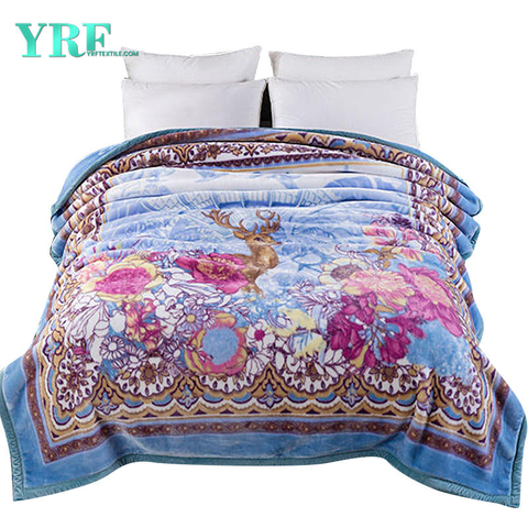 Luxury Fleece Plush Design Printing Pattern Hotel Blanket