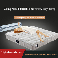 10 Inch Condo 1.8*2.0m Mattress Natural Latex Gel Foam Hight Manganese Steel Spring Extra Plush