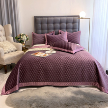 Home Bedding Bedspread Cover Comforter Full Size Bed Cover Blanket Purple for Winter