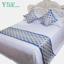 Inn Double Room Modern Simple Thicken Geometric Design Blue Decorate Bed Flags