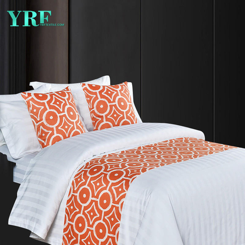 Condo King Bed Yarn-Dyed Jacquard Orange Decorate Bed Flags