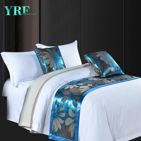 High-End Hotel Bed 1.8m Fashionable Yarn-Dyed Silky Decorate Bed Flags